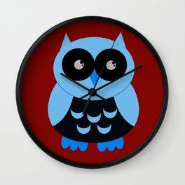 Vintage Vector Smart Owl Wall Clock