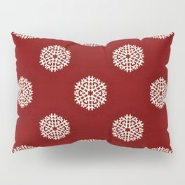Vintage christmas winter snowflake watercolor hand painted illustration pattern Pillow Sham
