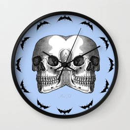 Double Trouble / PASTEL BLUE Wall Clock