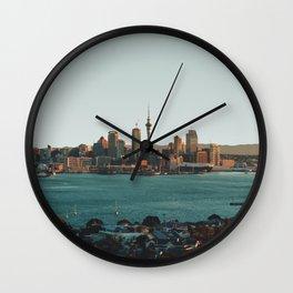 Auckland, New Zealand Travel Artwork Wall Clock