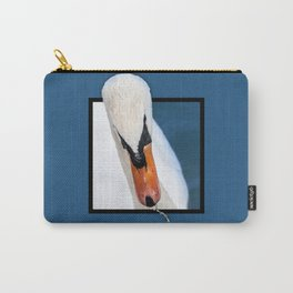 Swan with 3D pop out of frame effect Carry-All Pouch