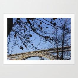 The tree and the bridge Art Print
