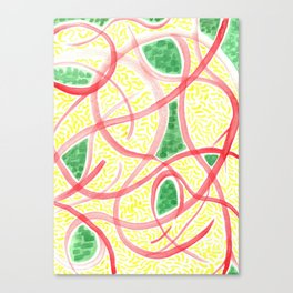 Rice with greens and tomato Canvas Print