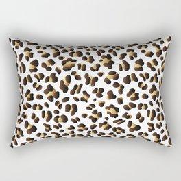 Black & Gold Leopard Spots Rectangular Pillow