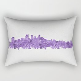 Minnepolis Minnesota Skyline Florals Purple Rectangular Pillow