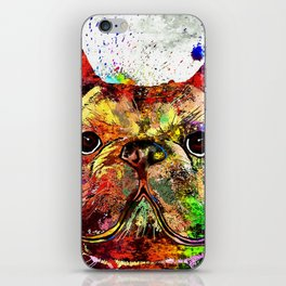 French Bulldog Grunge iPhone Skin