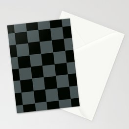 Gray & Black Chex 2 Stationery Cards
