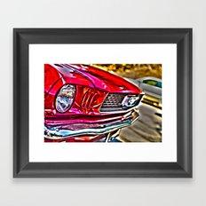Mustang on Hollywood Hills Framed Art Print
