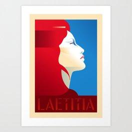Laetitia Portrait Poster Art Print