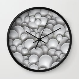 White Pearls Wall Clock