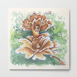 Empire of Mushrooms: Cantharellus cibarius Metal Print