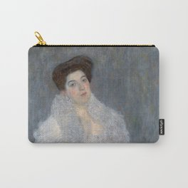 Portrait of Hermine Gallia by Gustav Klimt Carry-All Pouch