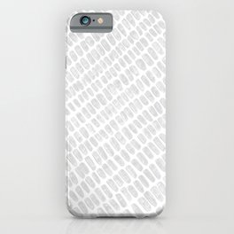 Gray & White Pencil Charcoal Lined Spotted Texture Diagonal Minimal Minimalism Design Pattern iPhone Case