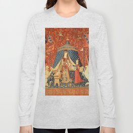 Lady and The Unicorn Medieval Tapestry Long Sleeve T-shirt