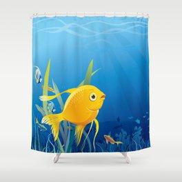 Gold fish - make a wish Shower Curtain