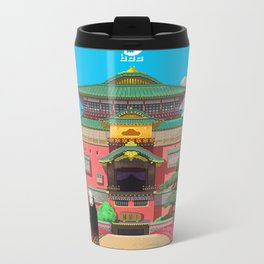 Spirited Away - Pixel Art Metal Travel Mug
