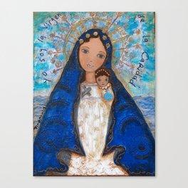 La Virgen de la Caridad del Cobre by Flor Larios Canvas Print