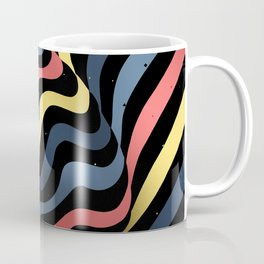 Beautiful color egg with striped lines. Colorful op art oval. Coffee Mug