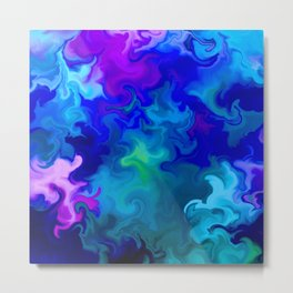 Big Blue Swirl Metal Print