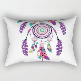 Colorful dream catcher on arrow Rectangular Pillow