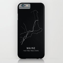 Maine State Road Map iPhone Case