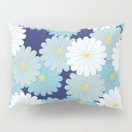 Blue oriental flowers Pillow Sham