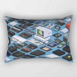 A Pixel Retrospective Rectangular Pillow