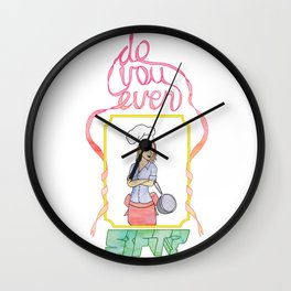 Do You Even Sift  Wall Clock