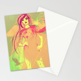 girl tattoo Stationery Cards