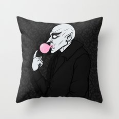 Popping Bubblegum Bubble  Throw Pillow