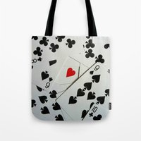 poker Tote Bags featuring Poker by Jackie
