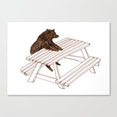 Picnic Bear Canvas Print