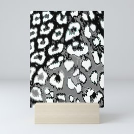 Black and White Leopard Spots Mini Art Print
