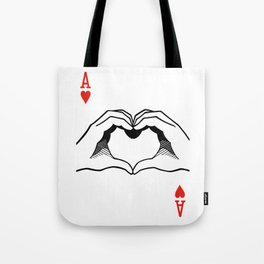 Ace of Heart Hands Tote Bag