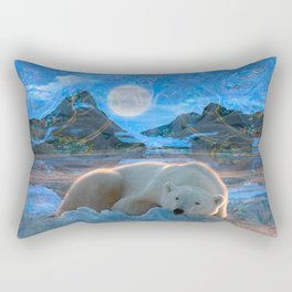 Just Chilling and Dreaming (Polar Bear) Rectangular Pillow