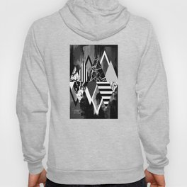 STAND OUT! In Black And White - Abstract, textured geometry! Hoody