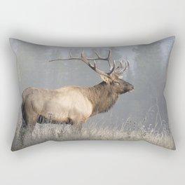 Bull Elk One Rectangular Pillow