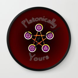 Platonically Yours Wall Clock