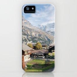 Mountain Top Murren Afternoon, Lauterbrunnen Switzerland iPhone Case