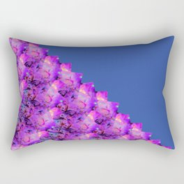 Celebration with Streamers 2nd Half Blue Fluid Abstract 44 Rectangular Pillow
