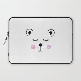Cute bear illustration Laptop Sleeve