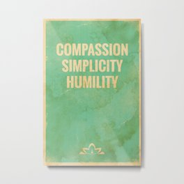The Three Jewels of Taoism: Compassion, Simplicity, Humility Metal Print