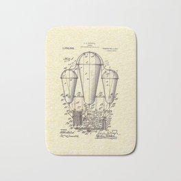 Vintage Airship, Steampunk Patent Drawing Bath Mat