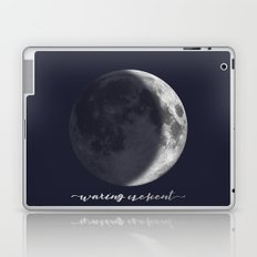 Waxing Crescent Moon on Navy - English Laptop & iPad Skin