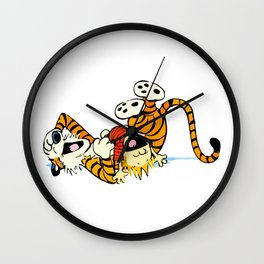 Calvin and Hobbes Laugh Wall Clock
