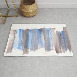 Blue Watercolor Background | Frozen Summer Series 172 Rug