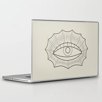 all seeing eye Laptop & iPad Skins featuring ALL SEEING EYE by SMUK THINGS