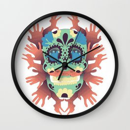 Skull and Hands Wall Clock
