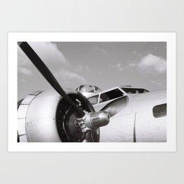 Flying Back in Time Art Print