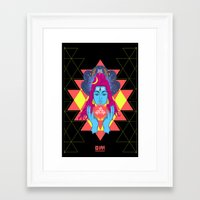 om Framed Art Prints featuring Om by RJ Artworks